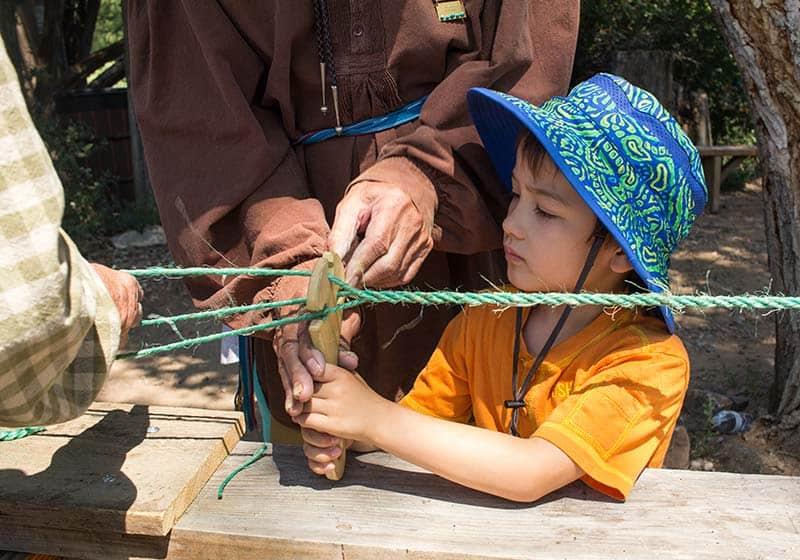 Fiesta de los Niños Rope Making
