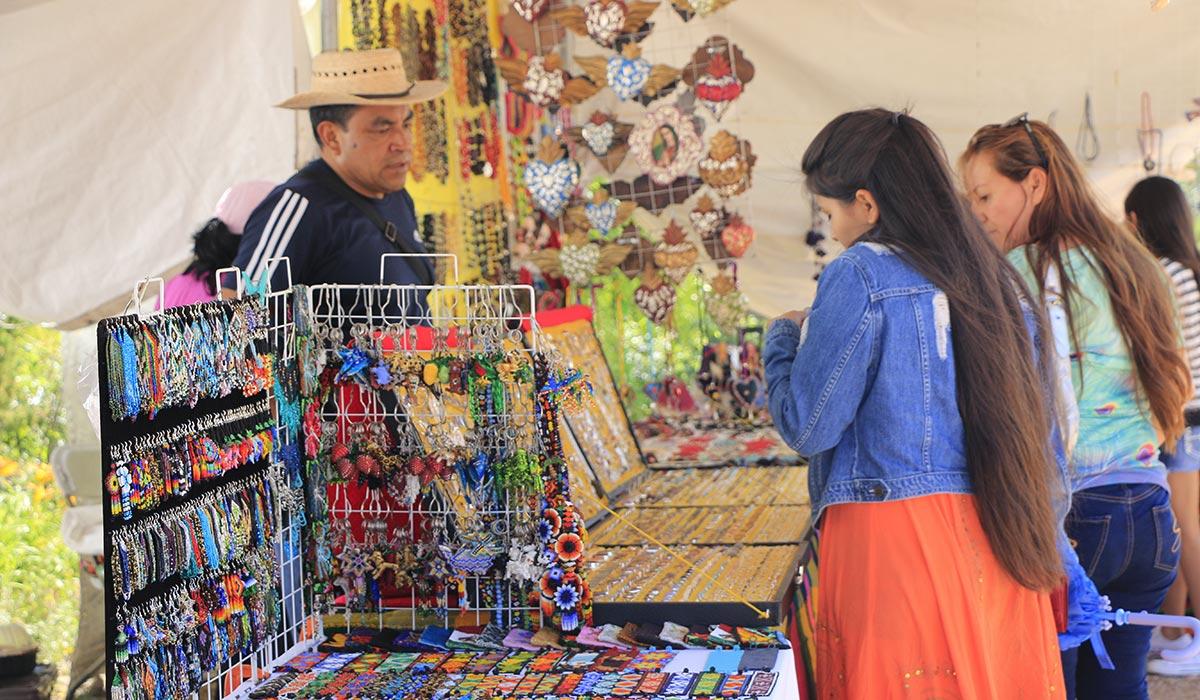 Golondrinas vendor Viva México